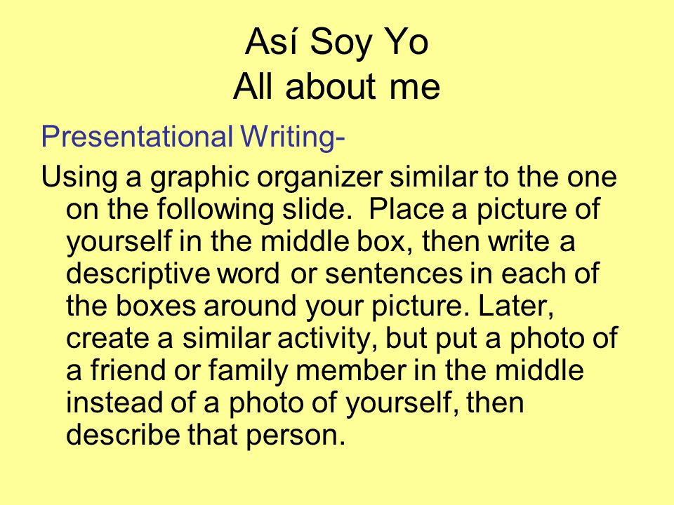 Así Soy Yo Sample on next slide