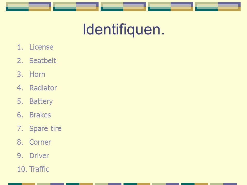 Match these verbs...1.Conducira. To check/inspect 2.Acelerarb.