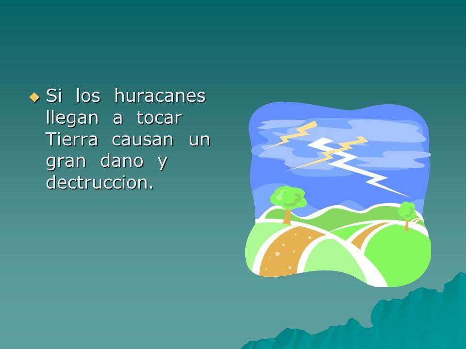 Si los huracanes llegan a tocar Tierra causan un gran dano y dectruccion. Si los huracanes llegan a tocar Tierra causan un gran dano y dectruccion.