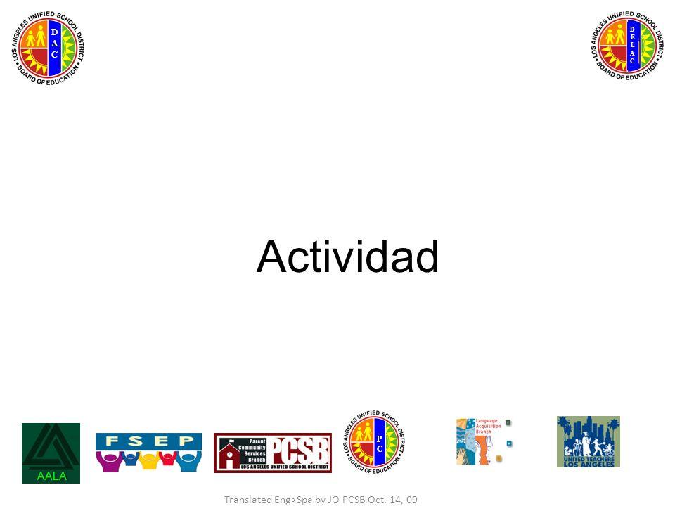 DELACDELAC DACDAC PCPC Actividad