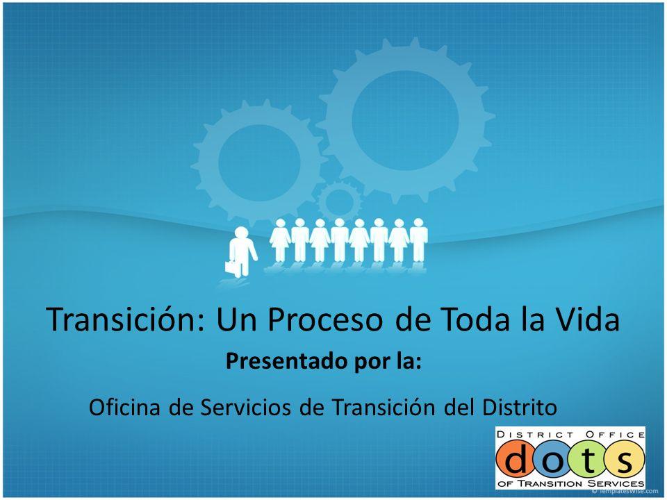 Transición: Un Proceso de Toda la Vida Presentado por la: Oficina de Servicios de Transición del Distrito