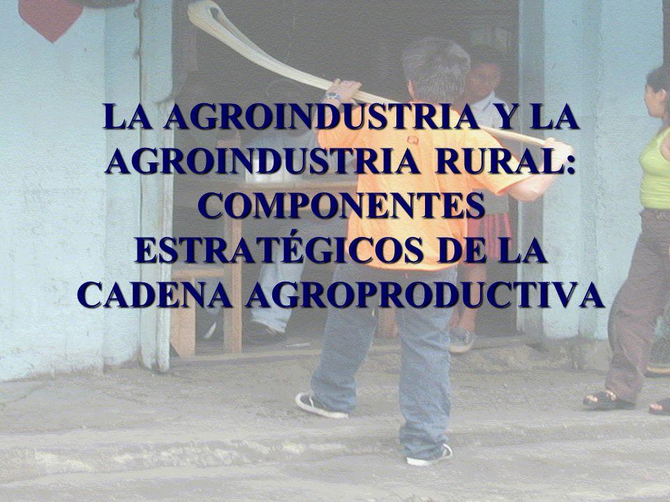 LA AGROINDUSTRIA Y LA AGROINDUSTRIA RURAL: COMPONENTES ESTRATÉGICOS DE LA CADENA AGROPRODUCTIVA