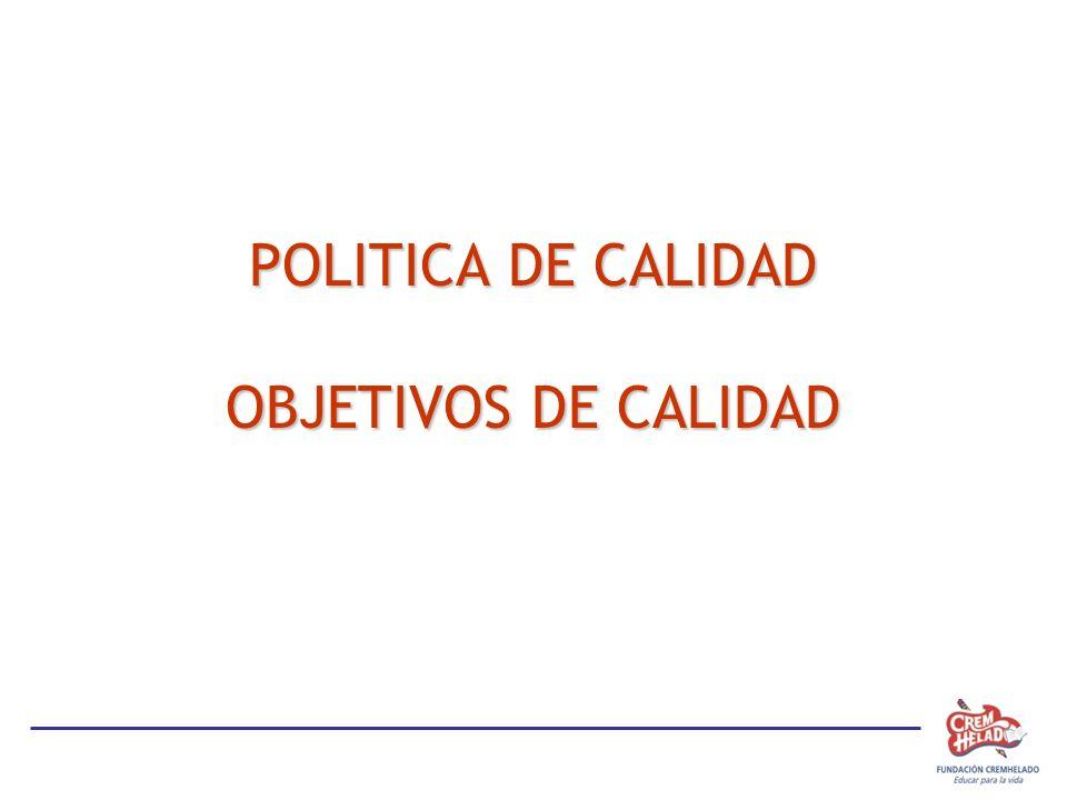 POLITICA DE CALIDAD OBJETIVOS DE CALIDAD