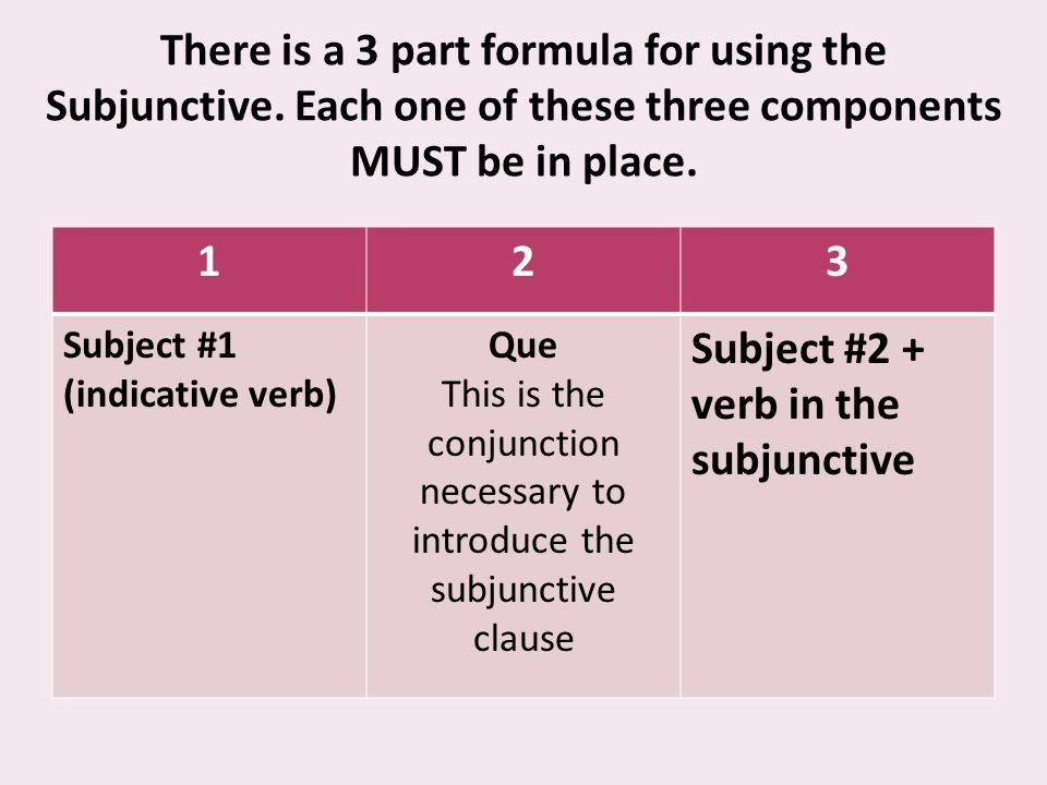 El rompecabeza Hay muchas frases que pueden significar el uso del subjuntivo.