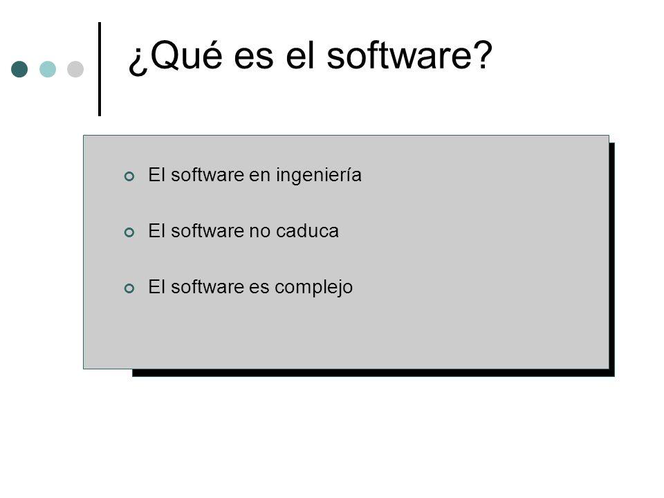 La calidad de un sistema, aplicación o producto es tan bueno como los requisitos que describen el problema, el diseño que modela la solución, el código que conduce a un programa ejecutable y las pruebas que ejercitan el software para detectar errores.