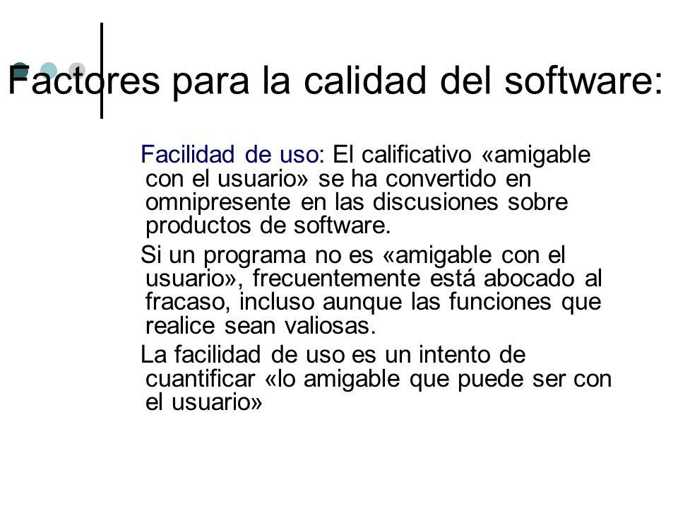 Facilidad de uso: El calificativo «amigable con el usuario» se ha convertido en omnipresente en las discusiones sobre productos de software. Si un pro
