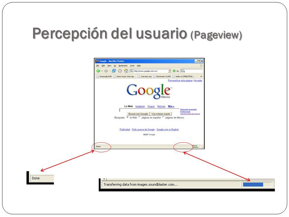 Percepción del usuario (Pageview)
