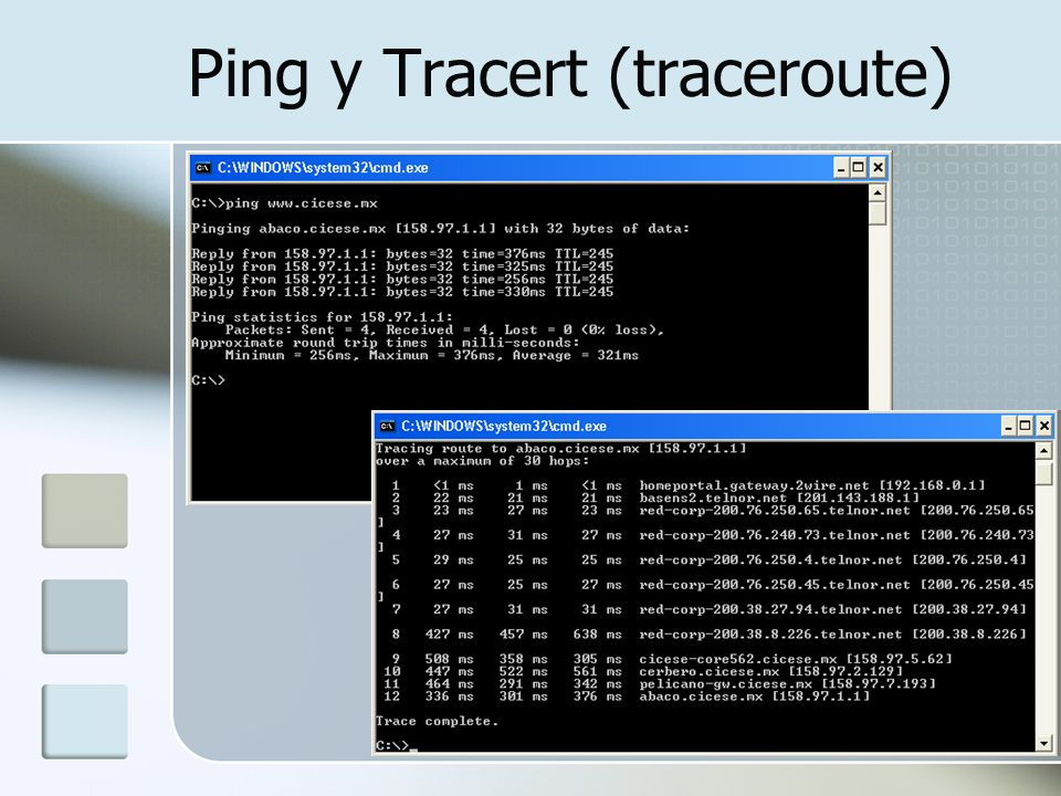 Ping y Tracert (traceroute)