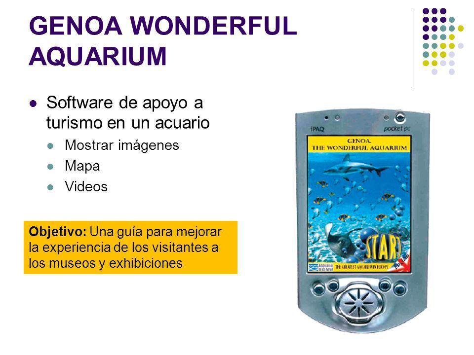 GENOA WONDERFUL AQUARIUM Software de apoyo a turismo en un acuario Mostrar imágenes Mapa Videos Objetivo: Una guía para mejorar la experiencia de los visitantes a los museos y exhibiciones