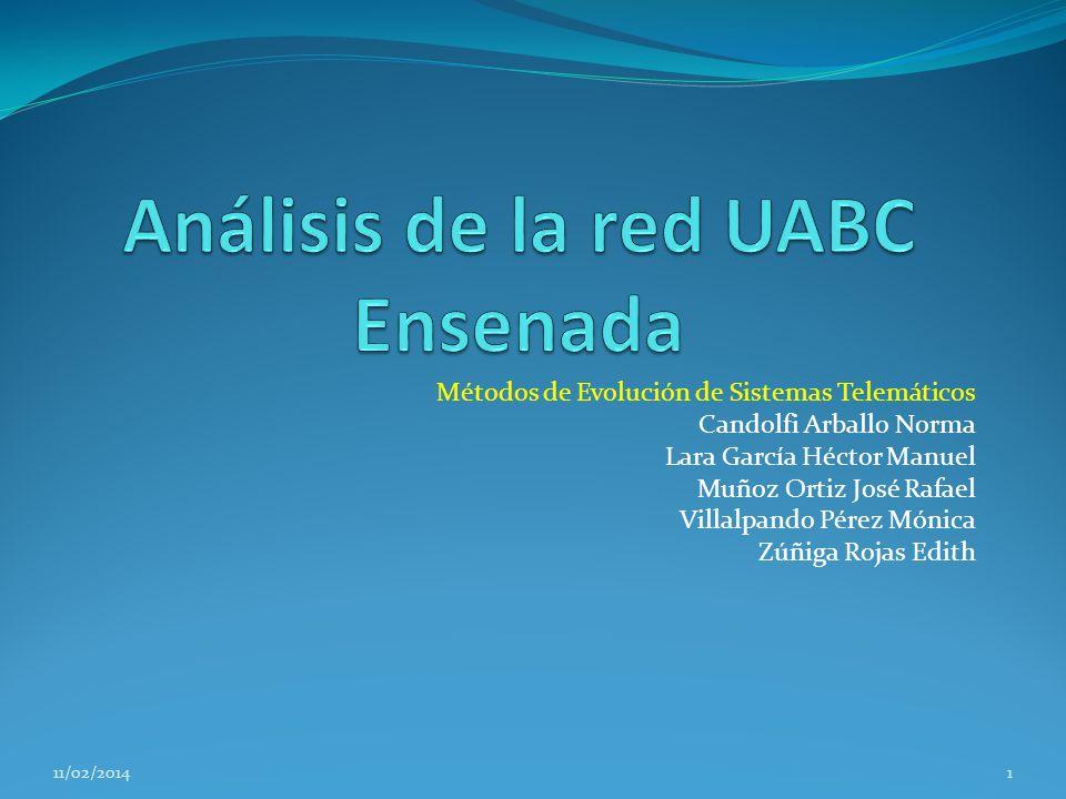 Contenido Introduccion Descripcion General de la Red UABC – Ensenada Servicios Plan de Trabajo Diagrama de Subredes Metodologia para la Evaluacion Metricas Parametros Tecnica de Evaluacion Carga de Trabajo Contraste con Plan de Trabajo 2