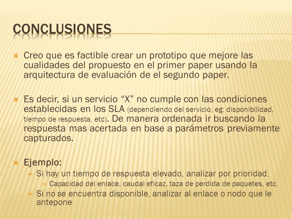 Creo que es factible crear un prototipo que mejore las cualidades del propuesto en el primer paper usando la arquitectura de evaluación de el segundo