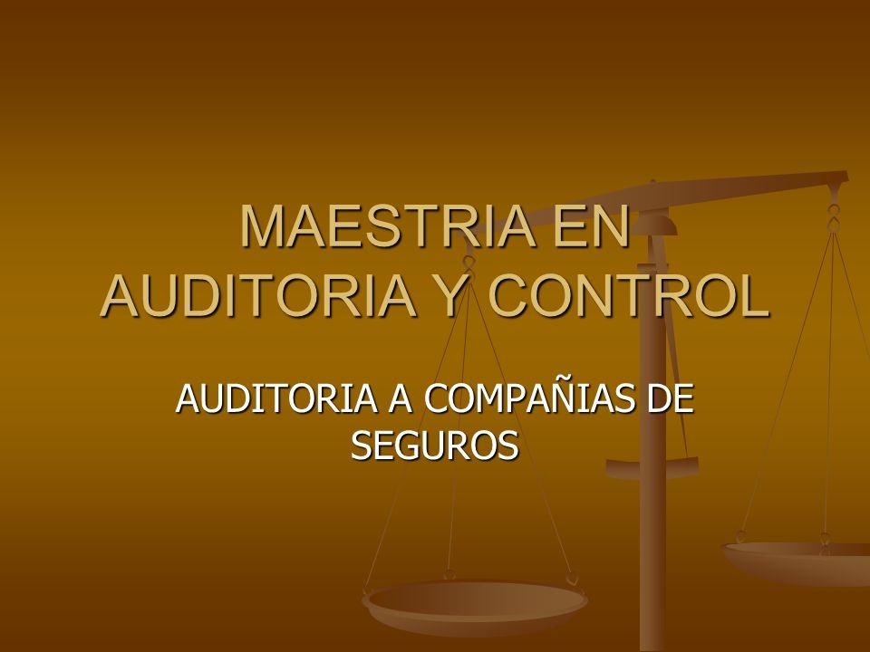 MAESTRIA EN AUDITORIA Y CONTROL AUDITORIA A COMPAÑIAS DE SEGUROS
