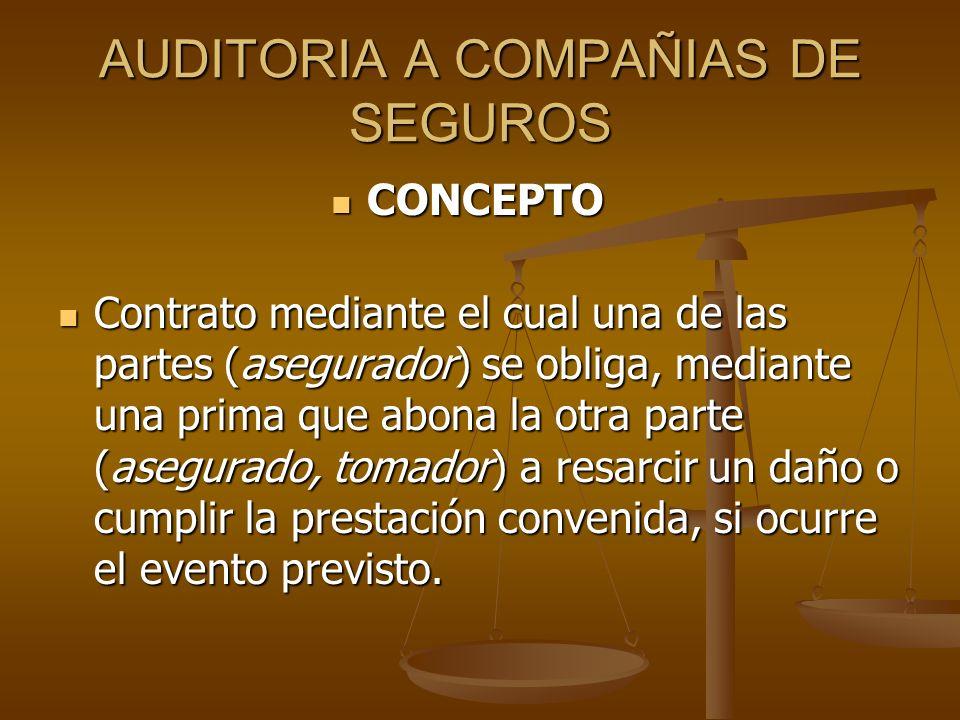 AUDITORIA A COMPAÑIAS DE SEGUROS CONDICIONES: Características: 1.