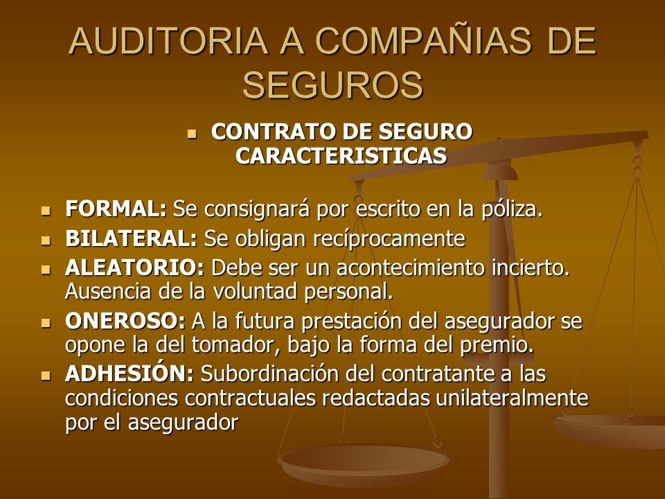 AUDITORIA A COMPAÑIAS DE SEGUROS El Reaseguro El Reaseguro Es el seguro de las empresas aseguradoras.
