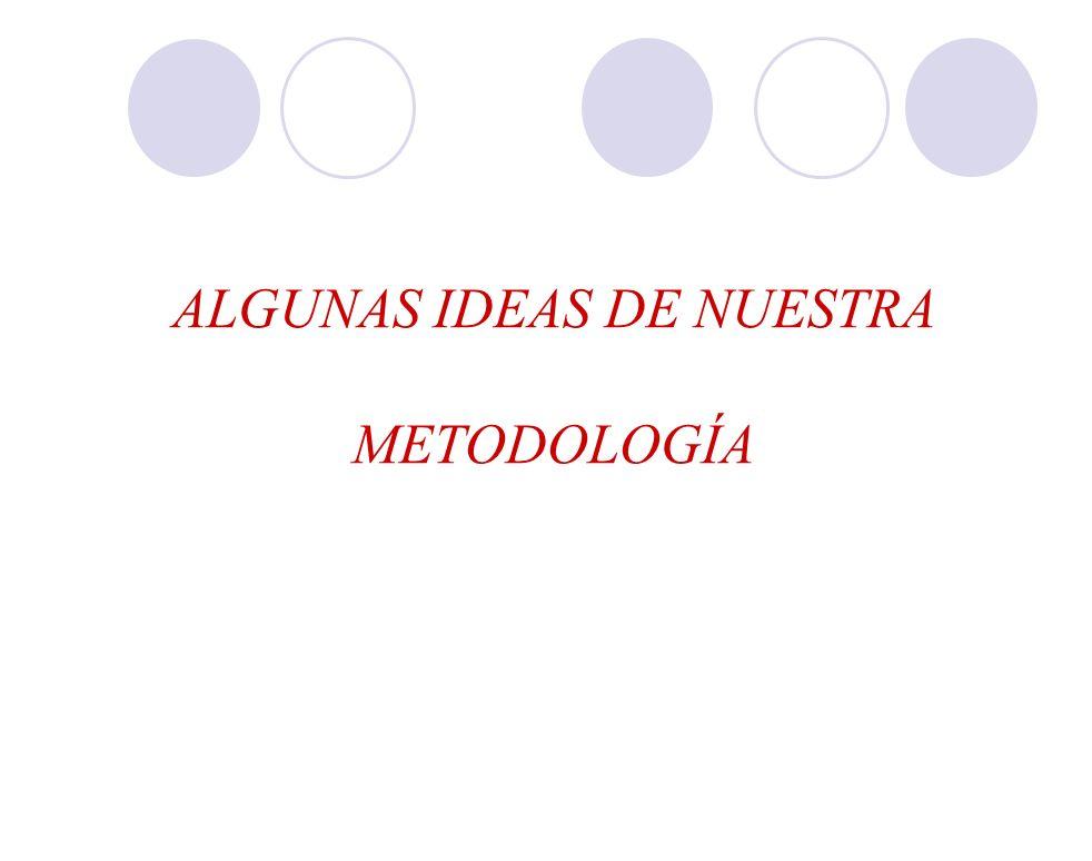 ALGUNAS IDEAS DE NUESTRA METODOLOGÍA