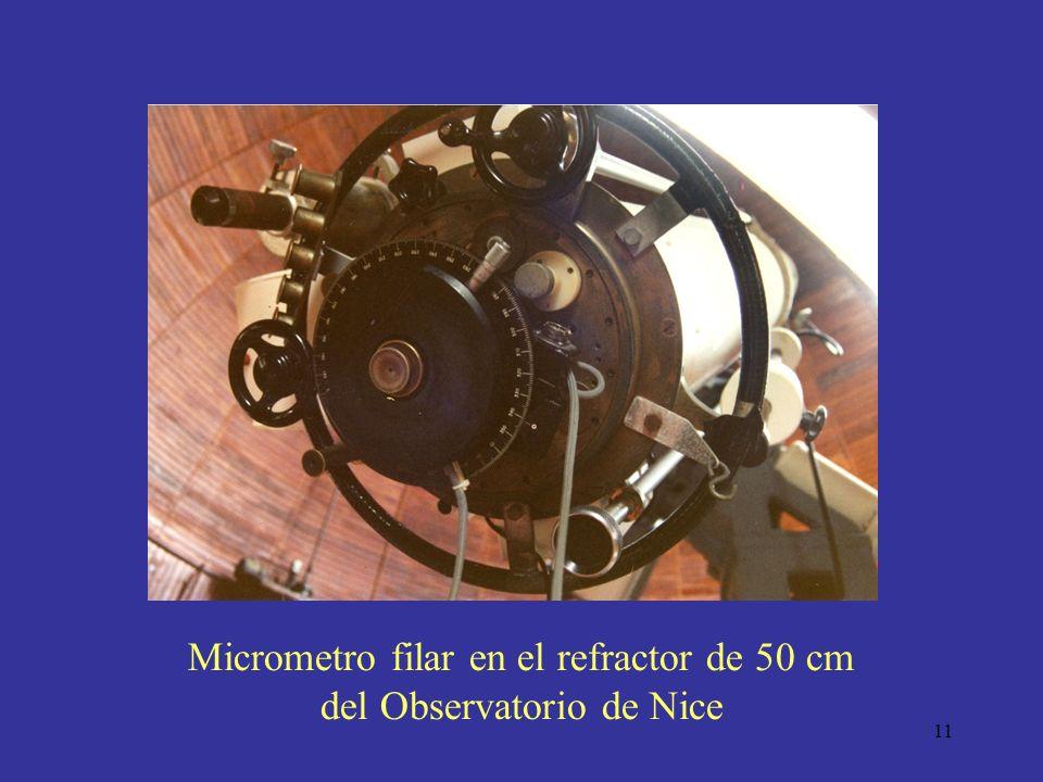 11 Micrometro filar en el refractor de 50 cm del Observatorio de Nice