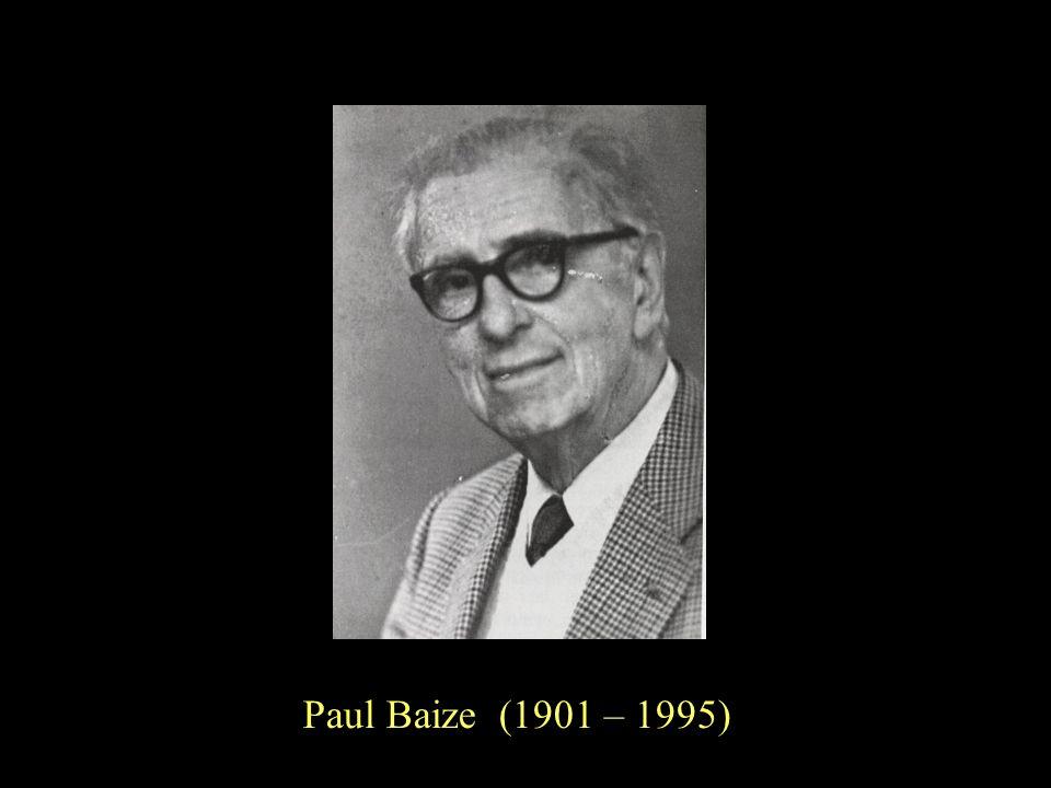 6 Paul Baize (1901 – 1995)