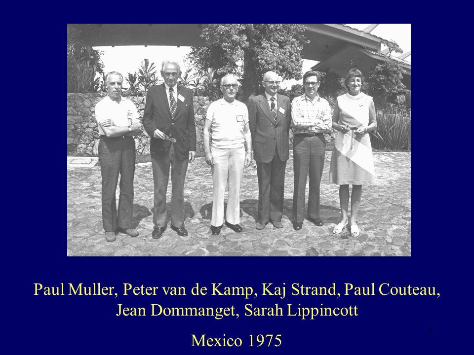 7 Paul Muller, Peter van de Kamp, Kaj Strand, Paul Couteau, Jean Dommanget, Sarah Lippincott Mexico 1975