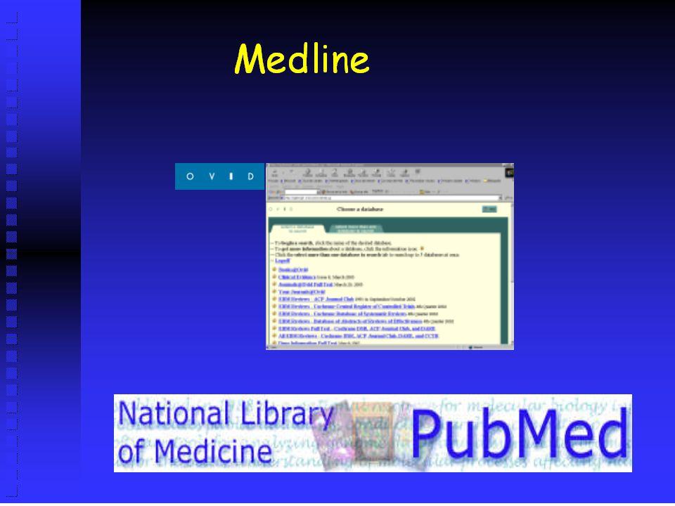 Fuentes de Información Bases de datos primarias Medline (gratis) Cinhal Embase IME (gratis) Fuentes de información elaborada Cochrane Library Best Evidence Clinical Evidence Trip Database (gratis)