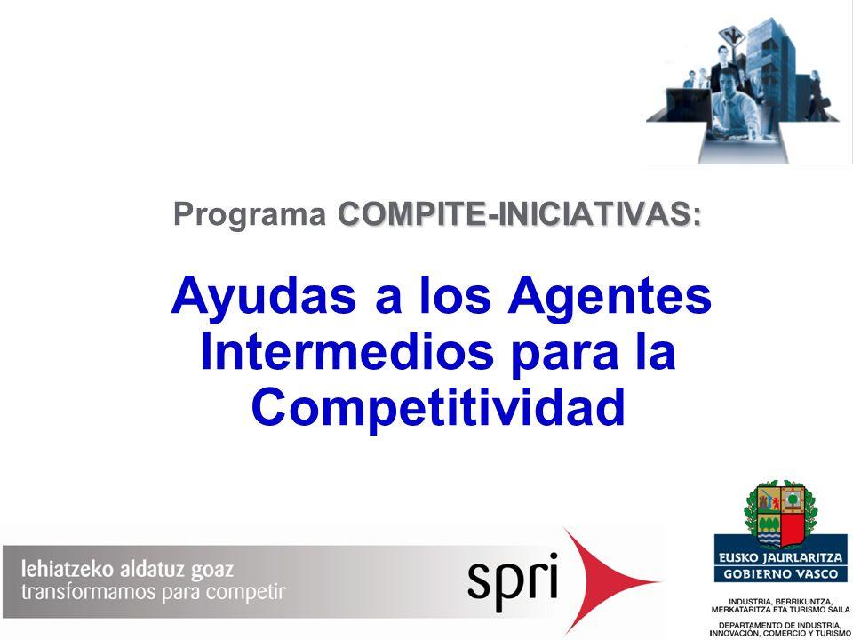 COMPITE-INICIATIVAS: Programa COMPITE-INICIATIVAS: Ayudas a los Agentes Intermedios para la Competitividad