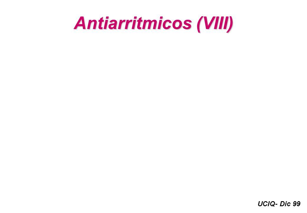 UCIQ- Dic 99 Antiarritmicos (VIII)