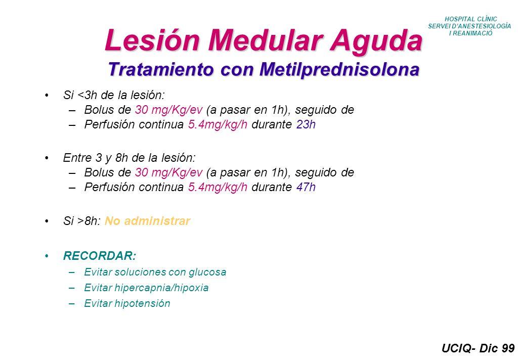 UCIQ- Dic 99 Protocolo Sedacion UCIQ (III) Tx Reno - Pancreático; Grupo V: Sedación: Propofol perfusión EV Analgesia: Catéter Peridural: Bupi + Fentanyl Analgesia complementaria: Tramadol Neoplasia Esofago Sedación: Propofol perfusión EV Analgesia: Catéter Peridural: Bupi + Fentanyl + Clonidina Analgesia complementaria: Indometacina Si Inducción Enzimática: Lidocaína 2% 400 mg Perfusión