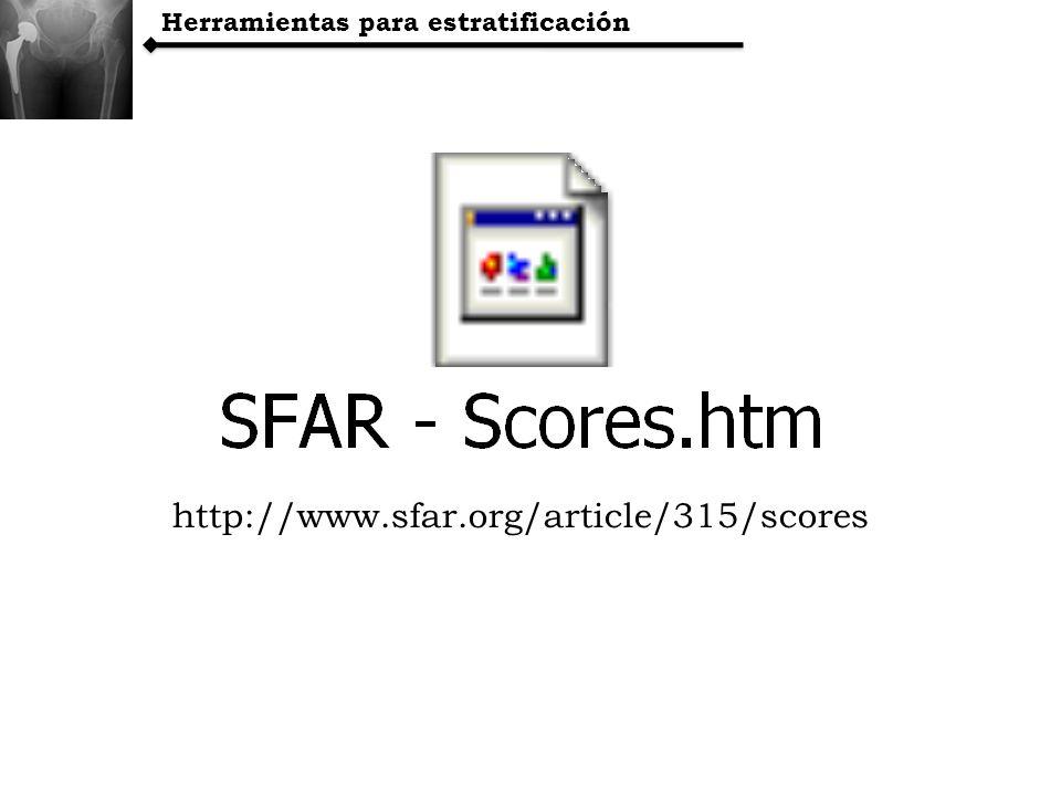 Herramientas para estratificación http://www.sfar.org/article/315/scores