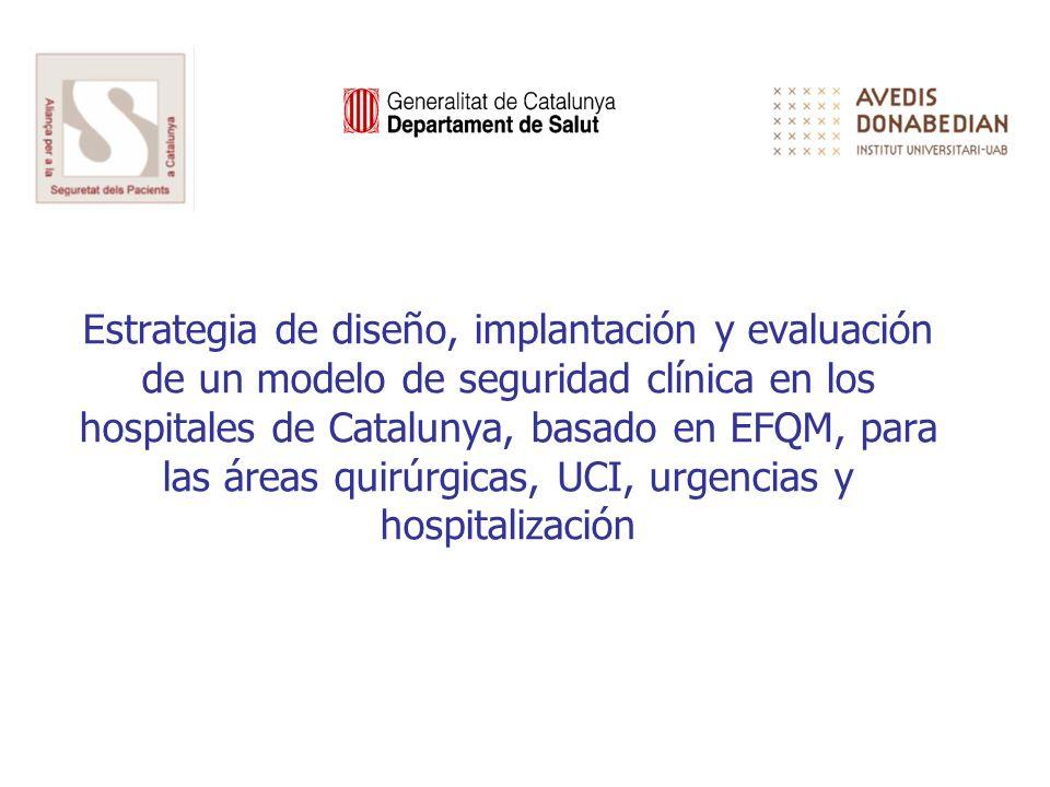 Estrategia de diseño, implantación y evaluación de un modelo de seguridad clínica en los hospitales de Catalunya, basado en EFQM, para las áreas quirú