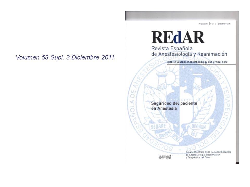 Volumen 58 Supl. 3 Diciembre 2011