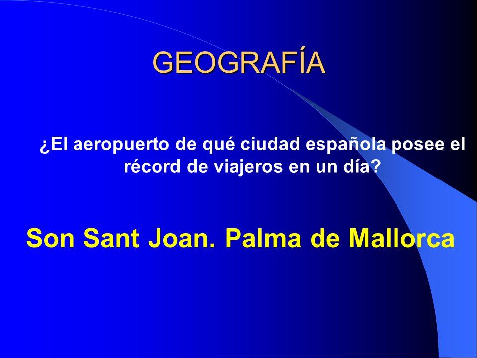 GEOGRAFÍA ¿El aeropuerto de qué ciudad española posee el récord de viajeros en un día.