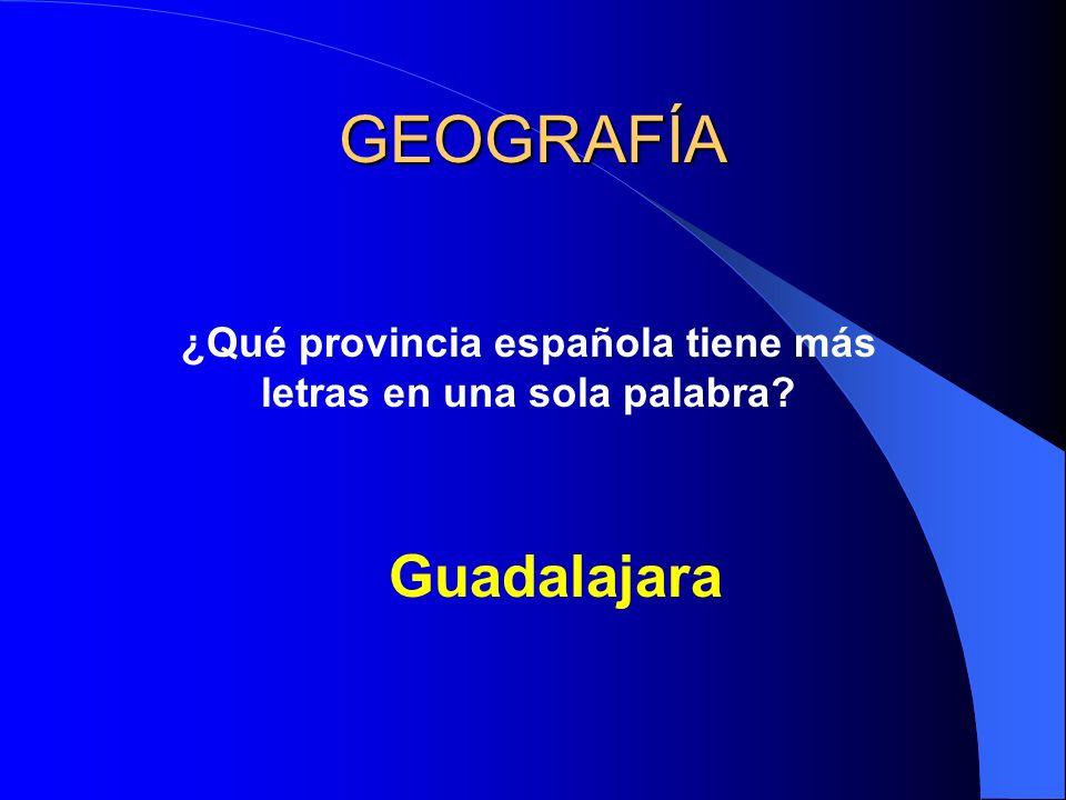GEOGRAFÍA ¿Qué provincia española tiene más letras en una sola palabra Guadalajara