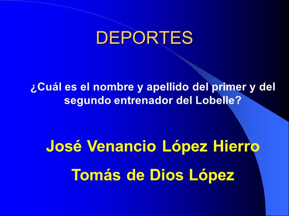 DEPORTES ¿Cuál es el nombre y apellido del primer y del segundo entrenador del Lobelle.