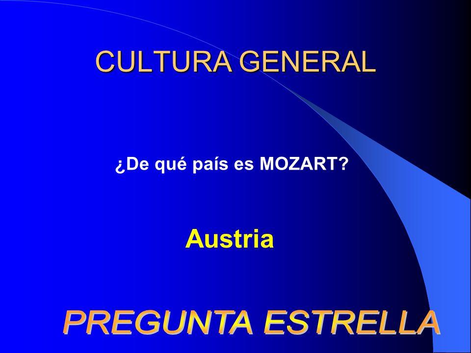 CULTURA GENERAL ¿De qué país es MOZART? Austria