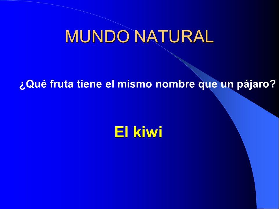 MUNDO NATURAL ¿Qué fruta tiene el mismo nombre que un pájaro? El kiwi