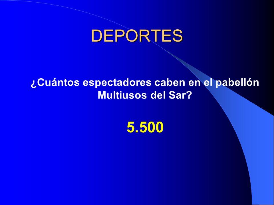 DEPORTES ¿Cuántos espectadores caben en el pabellón Multiusos del Sar? 5.500