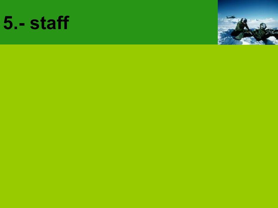 5.- staff