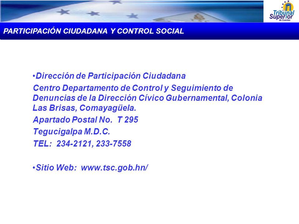 Dirección de Participación Ciudadana Centro Departamento de Control y Seguimiento de Denuncias de la Dirección Cívico Gubernamental, Colonia Las Brisa