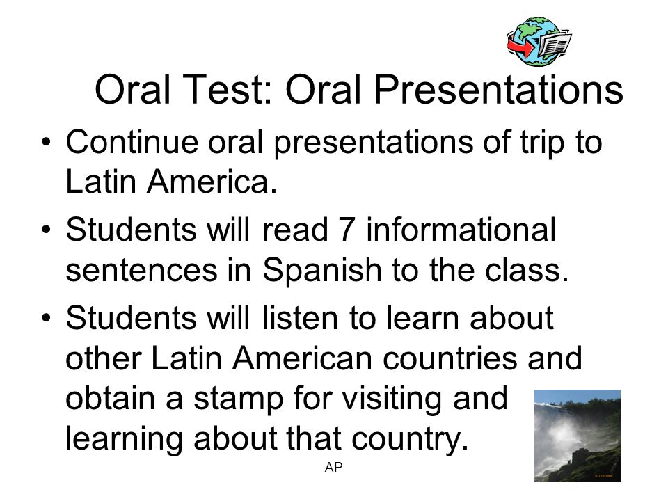 Monday 1/28: Trip to Latin America Project Due to present to class.