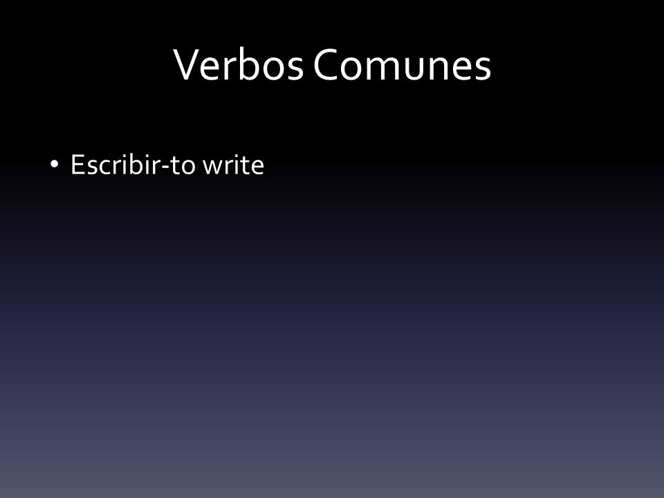 Un Verbo irregular VENIR-to come (Conjugated the almost the same as Tener) YovengoNosotrosvenimos TúvienesVosotrosvenís UstedVieneUstedesvienen
