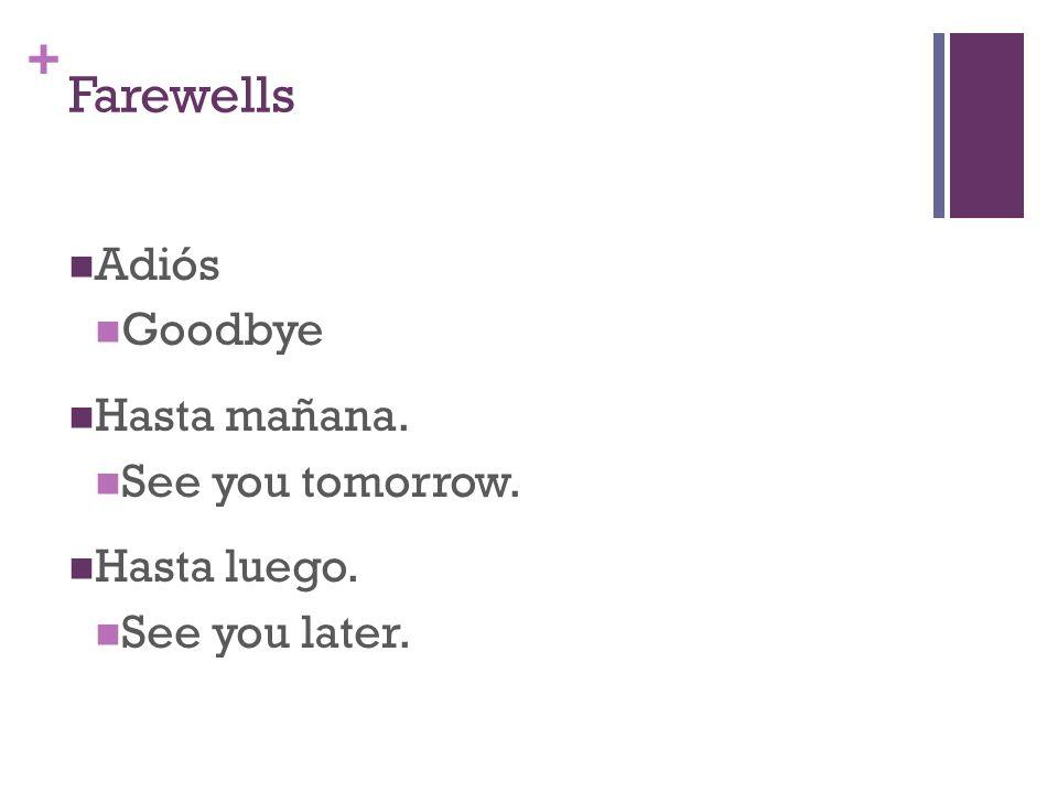 + Magic Words Por favor. Please Gracias Thank you De nada Your welcome Podría tener… May I have…