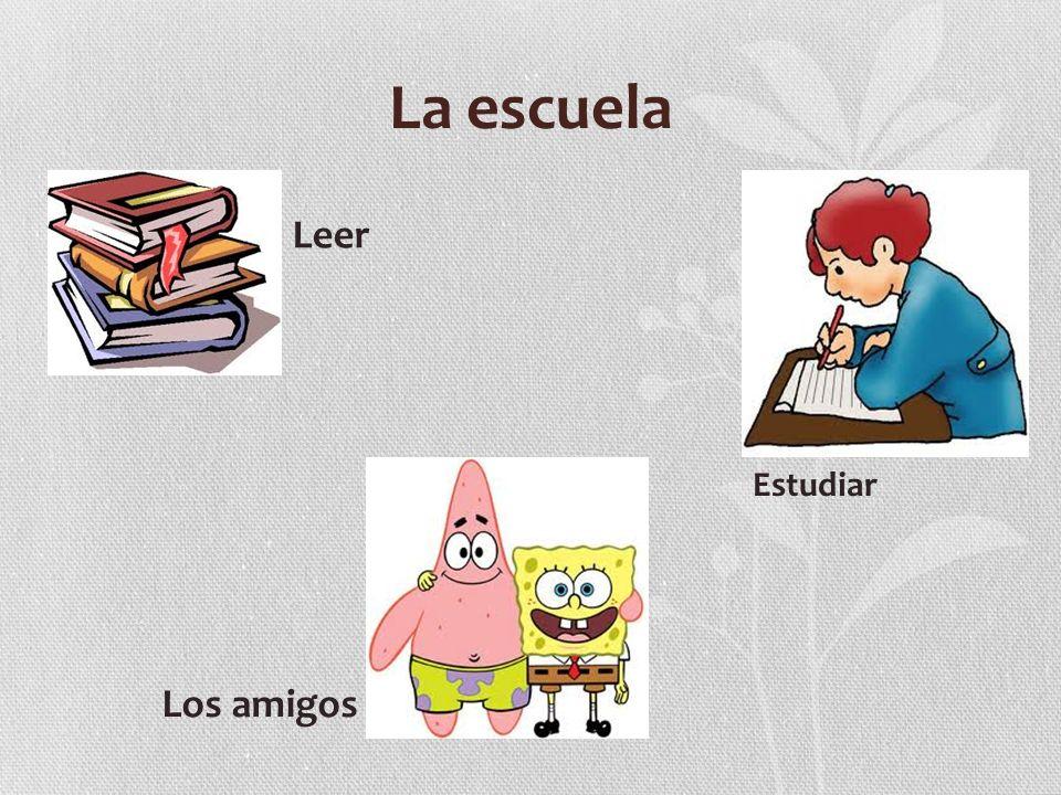 La escuela Leer Estudiar Los amigos