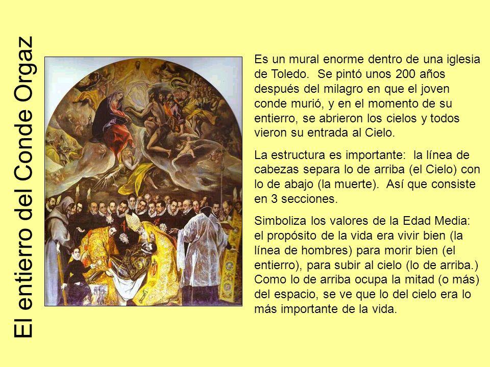 Es un mural enorme dentro de una iglesia de Toledo.