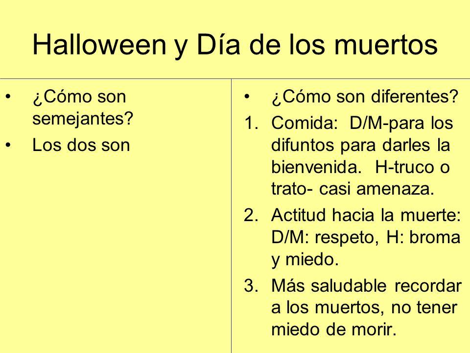 Halloween y Día de los muertos ¿Cómo son semejantes.