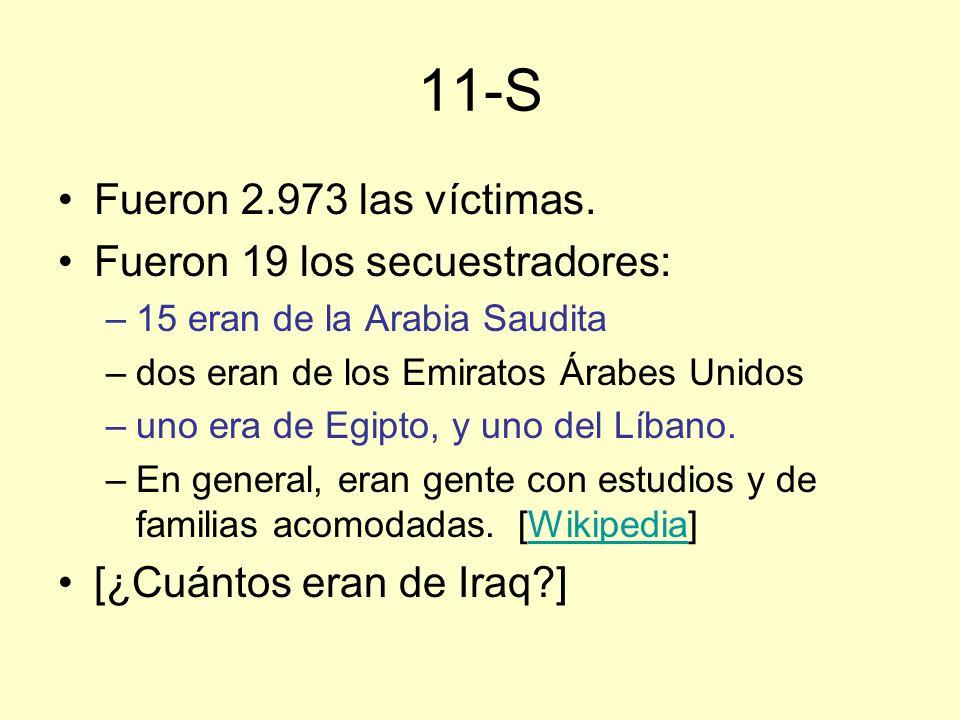 11-S Fueron 2.973 las víctimas.