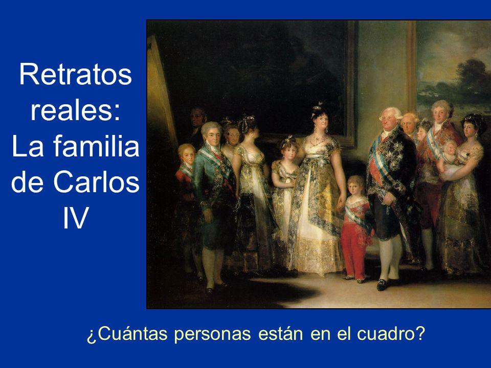 Retratos reales: La familia de Carlos IV ¿Cuántas personas están en el cuadro?