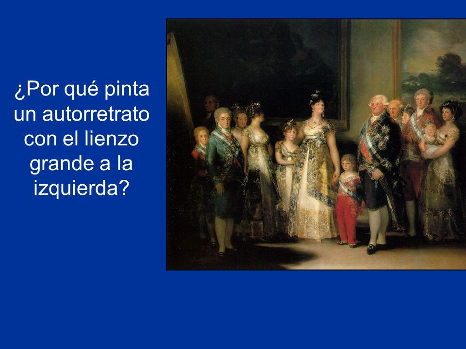 Para rendirle homenaje a Velázquez, que también se pintó a si mismo con el lienzo enorme en la parte de la izquierda de Las meninas.