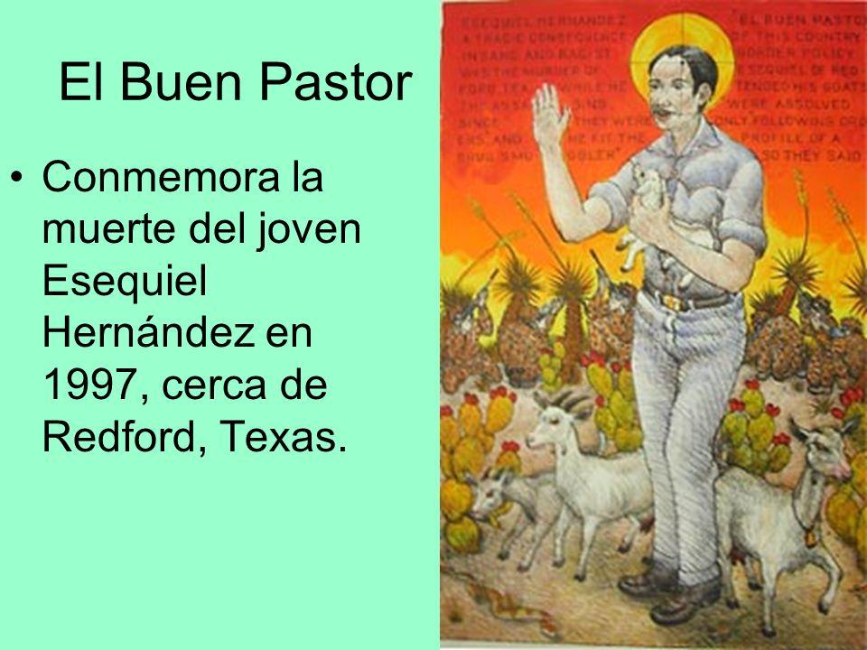 El Buen Pastor Conmemora la muerte del joven Esequiel Hernández en 1997, cerca de Redford, Texas.