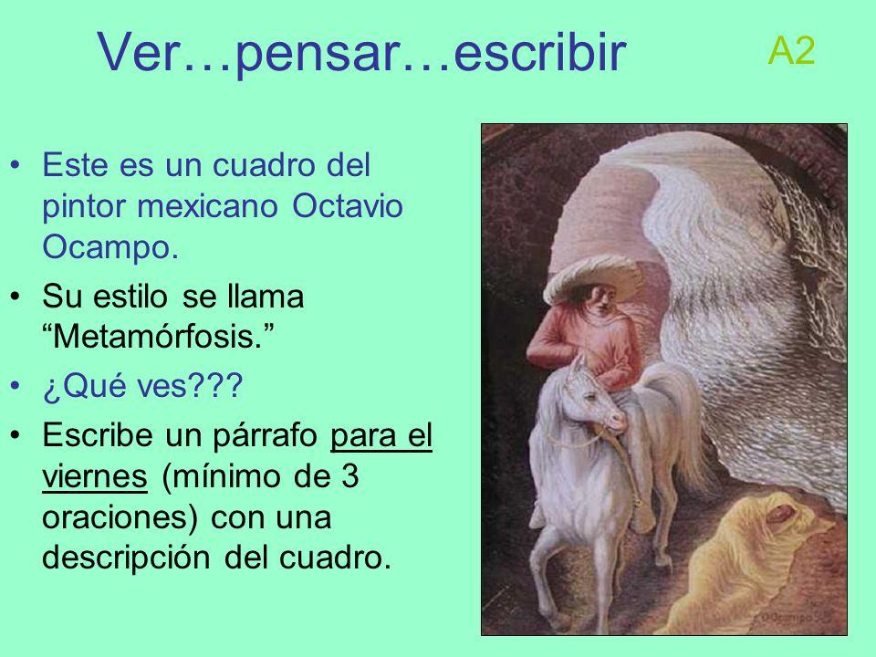Esta semana Noticias del español avanzado Noticias nacionales: el huracán Noticias internacionales: la masacre en Monterrey Pintor de la semana: Diego Rivera HOY: la meta: sacar apuntes según el formato Cornell.