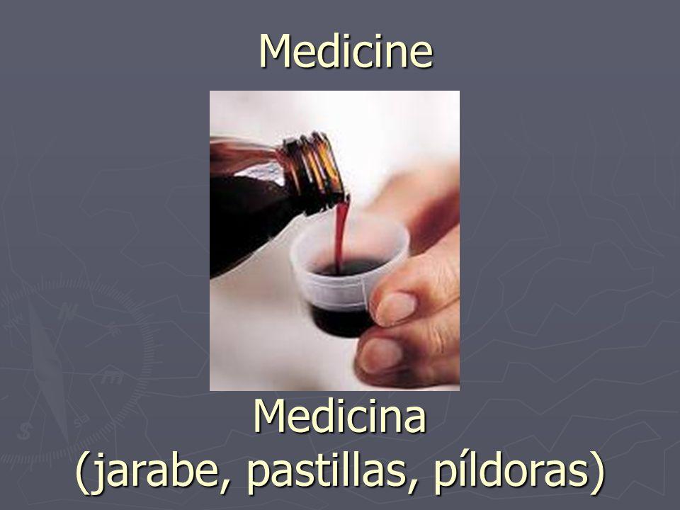 Medicine Medicina (jarabe, pastillas, píldoras)