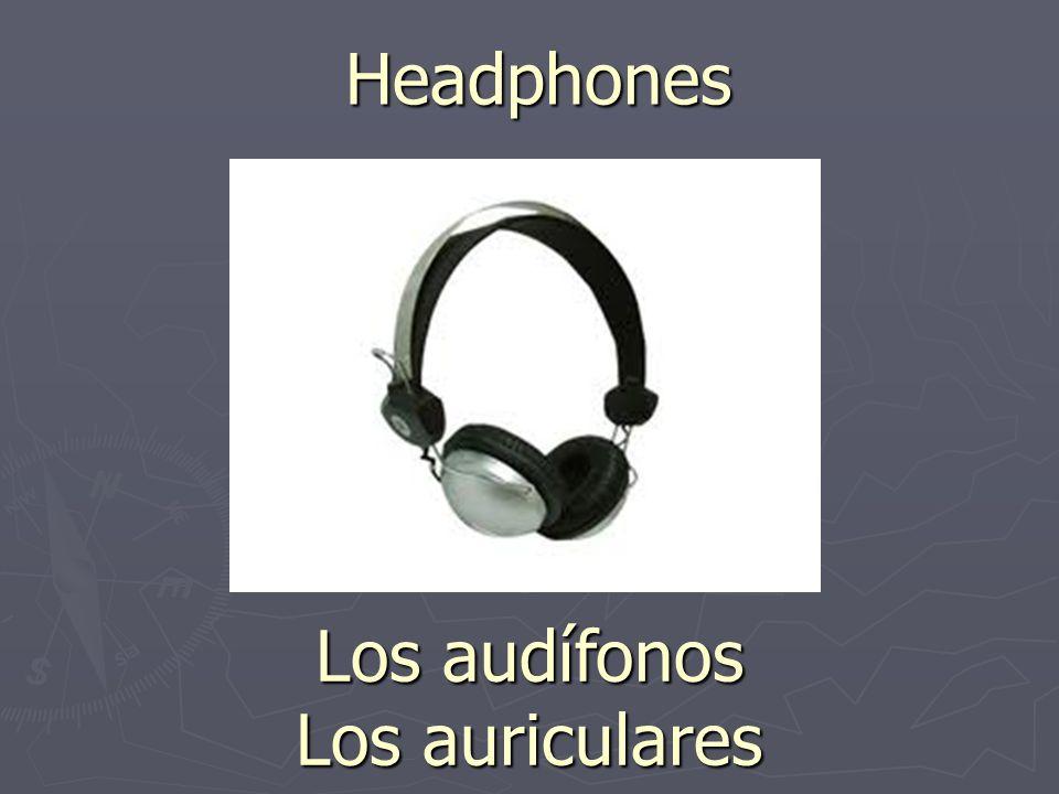Headphones Los audífonos Los auriculares